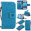رخيصةأون حافظات / جرابات هواتف جالكسي J-غطاء من أجل Samsung Galaxy S4 Mini ضد الصدمات / مع حامل غطاء كامل للجسم زهور قاسي جلد PU