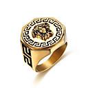 preiswerte Ringe Herren-Herrn Ring 1pc Gold Titanstahl Geometrische Form Stilvoll Geschenk Alltag Schmuck Klassisch Mut Cool