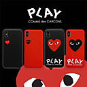 voordelige Galaxy A-serie hoesjes / covers-hoesje Voor Apple iPhone XS / iPhone XR / iPhone XS Max Mat / Game zaak Achterkant Hart PC