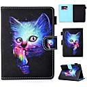 رخيصةأون أغطية-غطاء من أجل KOBO kobo clara HD حامل البطاقات / ضد الصدمات / مع حامل غطاء كامل للجسم قطة قاسي جلد PU