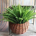 رخيصةأون أزهار اصطناعية-7 مصطنعة نابض بالحياة كبير بوسطن الحرير السرخس نبات العشب الأخضر الديكورات المنزلية