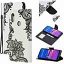 voordelige Huawei Mate hoesjes / covers-hoesje Voor Huawei Honor 10 Lite / Eer V20 / Eer 10i Portemonnee / Kaarthouder / Schokbestendig Volledig hoesje Bloem PU-nahka