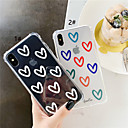cheap iPhone Cases-Case For Apple iPhone XS / iPhone XR / iPhone XS Max Shockproof / Transparent / Pattern Back Cover Heart Soft TPU