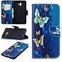 رخيصةأون حافظات / جرابات هواتف جالكسي J-غطاء من أجل Samsung Galaxy J7 (2017) / J6 (2018) / J5 (2017) محفظة / حامل البطاقات / مع حامل غطاء كامل للجسم فراشة قاسي جلد PU