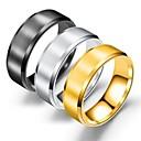 ieftine Inele-Bărbați Band Ring Inel Tail Ring 1 buc Negru Auriu Argintiu Oțel titan Circular De Bază Modă Petrecere Zilnic Bijuterii Cool