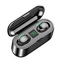 رخيصةأون اكسسوارات دراجة أخرى-Z-yeuy f9 tws صحيح لاسلكية سماعات ستيريو ipx5 للماء لمسة تحكم مصغرة بلوتوث 5.0 سماعات مع قوة العرض 2000 مللي أمبير قوة البنك إعادة شحن الهاتف جودة الصوت عالية الضوضاء