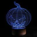 povoljno USB memorije-3d noćno svjetlo halloween bundeva 7 boja mijenja svjetlo spavaće sobe led svjetla akrilna usb atmosfera kreativna dekorativna 1pc