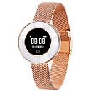 رخيصةأون ساعات ذكية-X6 سيدة الذكية سوار ip68 للماء حزام الصلب رصد معدل ضربات القلب ضغط الدم الذكية مشاهدة النساء smartwatch