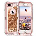 billige Etuier til iPhone 6-Etui Til Apple iPhone XS / iPhone XR / iPhone XS Max Flydende væske / Glitterskin Bagcover Glitterskin Hårdt PC