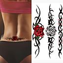 olcso Ideiglenes tetoválás-3 db sebesült magányos farkas vízálló ideiglenes tetoválás férfiak szomorú állat ideiglenes tetoválás tetoválás rózsa hamis tetoválás hüvely tetoválás matrica