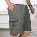 povoljno Chinos-Muškarci Osnovni Širok kroj Kratke hlače Hlače - Jednobojni Kolaž Pamuk Bijela Vojska Green Žutomrk US40 / UK40 / EU48 US44 / UK44 / EU52 US46 / UK46 / EU54 / Elastičnost