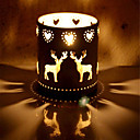 cheap Candles & Candleholders-elk iron christmas decorations candle holders  centerpiece event decoration candlestick