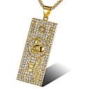 ieftine Cercei-Bărbați Alb Zirconiu Cubic Coliere cu Pandativ Geometric Speranţă Modă Oțel titan Auriu Alb 56 cm Coliere Bijuterii 1 buc Pentru Cadou Zilnic