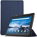 رخيصةأون Lenovo أغطية / كفرات-غطاء من أجل Lenovo Lenovo Tab E10 (TB-X104) ضد الصدمات / مغناطيس / النوم / الإيقاظ التلقائي غطاء كامل للجسم لون سادة قاسي جلد PU