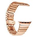 voordelige Galaxy Note-serie hoesjes / covers-Horlogeband voor Apple Watch Series 4/3/2/1 Apple Butterfly Buckle Roestvrij staal Polsband