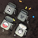 voordelige iPhone X screenprotectors-airpods case mooie patroon schokbestendige beschermende cartoon cover draagbare voor airpods1& airpods2 (airpods oplaadcassette niet inbegrepen)