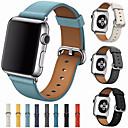 رخيصةأون سماعات الهاتف والأعمال-حزام إلى Apple Watch Series 4/3/2/1 Apple بكلة كلاسيكية جلد طبيعي شريط المعصم