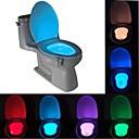 povoljno LED noćna rasvjeta-brelong 1 kom 8-bojni ljudski senzor pokreta pir wc noćno svjetlo