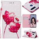 voordelige iPhone-hoesjes-hoesje Voor Huawei Huawei P20 / Huawei P20 Pro / Huawei P20 lite Portemonnee / Kaarthouder / Schokbestendig Volledig hoesje Bloem Hard PU-nahka