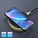 رخيصةأون أغطية أيفون-10 واط تشى شاحن ضوء اللاسلكية ل فون x xr xs ماكس 8 شحن سريع لوحة لاسلكية ل سامسونج s9 s8 huawei companion 20 pro