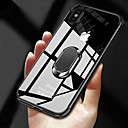 رخيصةأون حافظات / جرابات هواتف جالكسي S-غطاء من أجل Apple iPhone XS / iPhone XR / iPhone XS Max مع حامل / تصفيح / حامل الخاتم غطاء خلفي شفاف ناعم TPU