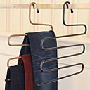 abordables Gadgets de Salle de Bain-pantalon magique rack s-type pantalon multicouche cintre penderie rangement
