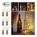 povoljno LED svjetla u traci-6pcs tri funkcijska bočica boca 20 žarulja žica 2m vino vodio niz svjetlo pluto obliku vina bočica čep svjetlo žarulja božićni zabava dekoracija boca čep svjetlo