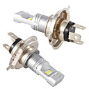 ieftine Becuri De Mașină LED-2 buc mașină h4 led hi / lo cu cip CS 6smd drl lampă de ceață led în timpul zilei lumina de cotitură bec bec cu fascicul înalt de față 12v