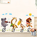 cheap Decoration Stickers-Decorative Wall Stickers - Plane Wall Stickers Animals / Floral / Botanical Bedroom / Indoor