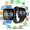 billige Smartklokker2-ec02 bluetooth smart watch hjertefrekvens fargeskjerm pedometer for android for ios trykk watch for huawei android ios