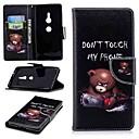 رخيصةأون Sony أغطية / كفرات-غطاء من أجل Sony سوني اريكسون 10 / Xperia XZ2 / Xperia XA2 Ultra محفظة / حامل البطاقات / مع حامل غطاء كامل للجسم جملة / كلمة قاسي جلد PU