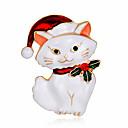 povoljno Broševi-Žene Broševi Mačka Slatka Style Broš Jewelry Crn White / White Za Dnevno
