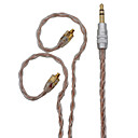 voordelige Galaxy S6 Edge Plus Hoesjes / covers-bqeyz 8 core upgrade kabel monokristal koper verzilverd gemengde hifi 3,5 mm gouden plug mmcx connector voor se846 blik