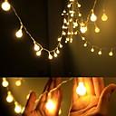 povoljno LED svjetla u traci-4m Žice sa svjetlima 40 LED diode EL Toplo bijelo Party / Ukrasno / Vjenčanje AA baterije su pogonjene 1set