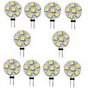 ieftine Becuri LED Bi-pin-10pcs 1 W Becuri LED Bi-pin 120 lm G4 6 LED-uri de margele SMD 5050 Alb Cald galben 12 V