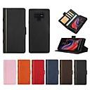 voordelige Galaxy Note-serie hoesjes / covers-hoesje Voor Samsung Galaxy Note 9 / Note 8 Portemonnee / Kaarthouder / Schokbestendig Volledig hoesje Lijnen / golven Hard aitoa nahkaa