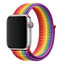 voordelige Apple Watch-bandjes-sportlus voor apple watch band serie 4 3 2 1 reflecterende riem voor iwatch dubbellaags ademend geweven nylon