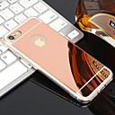 voordelige iPhone-hoesjes-hoesje Voor Apple iPhone XR / iPhone XS Max / iPhone X Beplating / Spiegel Achterkant Effen Zacht TPU