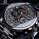 voordelige Merk Horloge-Heren Dress horloge Automatisch opwindmechanisme Zwart / Zilver / Goud Waterbestendig Grote wijzerplaat Analoog minimalistische - Zwart Goud Zilver