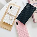 رخيصةأون أغطية أيفون-غطاء من أجل Apple iPhone XS / iPhone XR / iPhone XS Max ضد الغبار / احتياطية غطاء خلفي نموذج هندسي جلد PU / الكمبيوتر الشخصي