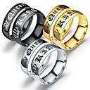 voordelige Apple Watch-bandjes-Voor Stel Ringen voor stelletjes Ring 1pc Goud Zwart Zilver Titanium Staal Cirkelvormig Standaard Modieus Lahja Dagelijks Sieraden Kroon Cool