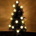 رخيصةأون أضواء شريط LED-5m أضواء سلسلة 20 المصابيح أبيض دافئ / لون متعدد ديكور 220-240 V 1SET