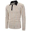 povoljno Muške polo majice-Polo Muškarci - Osnovni Kauzalni / Ležerno / za svaki dan Color block Izrezati Crno-bijela Crn