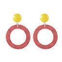 povoljno Naušnice-Žene Viseće naušnice Naušnica Twist Circle Vintage pomodan Korejski Moda Smola Naušnice Jewelry Crvena Za Dnevno Stage Ulica Praznik Jabuka 1 par