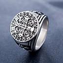 povoljno Ogrlice-Muškarci Prsten 1pc Crn Srebro Rose Gold Titanium Steel Cirkularno Vintage Osnovni Moda Dnevno Jewelry Kereszt Vjera Cool