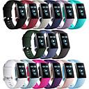 povoljno Remenje za Fitbit satove-Pogledajte Band za Fitbit Charge 3 Fitbit Moderna kopča Silikon Traka za ruku