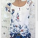 povoljno Narukvice-Veći konfekcijski brojevi Majica s rukavima Žene Geometrijski oblici Slim, Print Crn