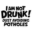 povoljno Motociklističke jakne-ja sam pijan! samo izbjegavam rupe na slovima reflektirajuće naljepnice za auto