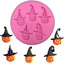 ieftine Ustensile & Gadget-uri de Copt-forma de dovleac de Halloween forma fondant tort de silicon mucegai de ciocolată bomboane mucegai copt biscuiți forme de patiserie instrumente de decorare tort