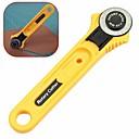 رخيصةأون مجموعات الأدوات-قطع الروتاري الأصفر 28 ملليمتر التعميم قطع شفرة خليط النسيج والجلود الحرفية